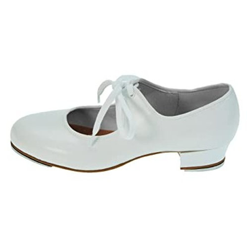 White Low Heel Tap Shoe (Infant & Junior)