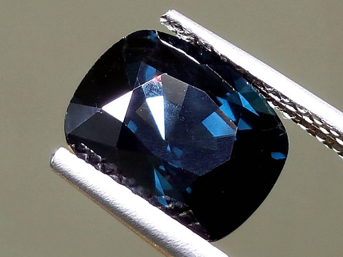 SOLD-Natural Dark Cobalt Blue Spinel 6.17 ct cushion cut from Sri Lanka