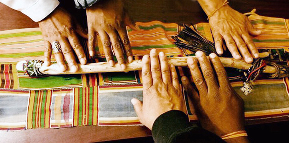 Teacher's Hands On Talking Stick