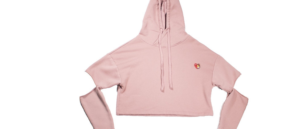Woman's Cut Out Fleece Hoodie