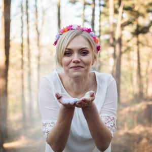 Colourful bridal portrait