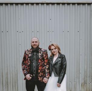 Western rock and roll wedding