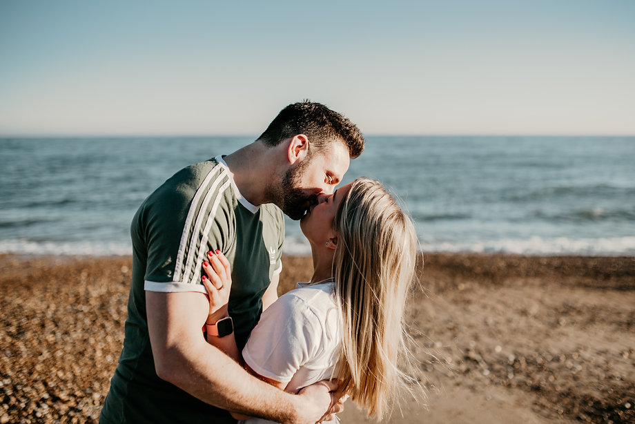 Beach engagement photography