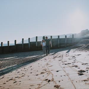 Beach engagement photography