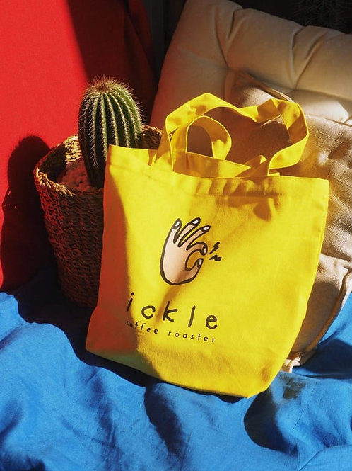 ickle coffee Tote Bag - ickle Yellow