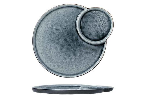 COSY&TRENDY LAGUNA BLUE-GREY PLAT BORD MET 2 VAKKEN