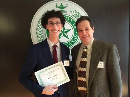 Sherman/Barsanti Inspiration Award Winner!