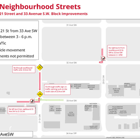 Update on 21 St. and 33 Ave. Block Improvement Project