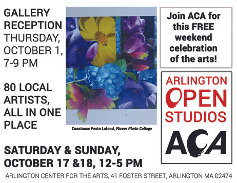 Arlington Open Studios Gallery Reception October 1, 2015