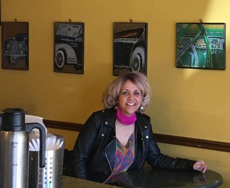 Art on display at Mystic Coffee