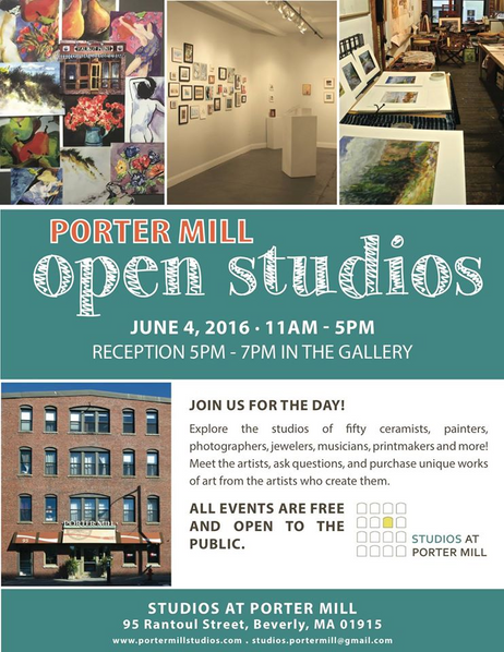 Open Studio event at Porter Mill