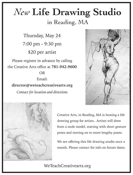 Creative Arts offers Life Drawing