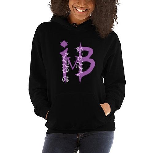 Ivy and Bat Purple Logo Print Unisex Hoodie