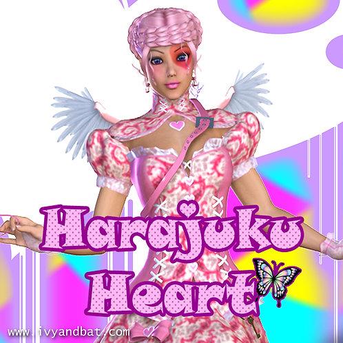 Harajuku Heart Cold Process Soap Bar