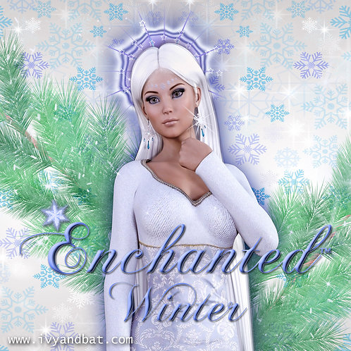 Enchanted Winter Fantasy Candle