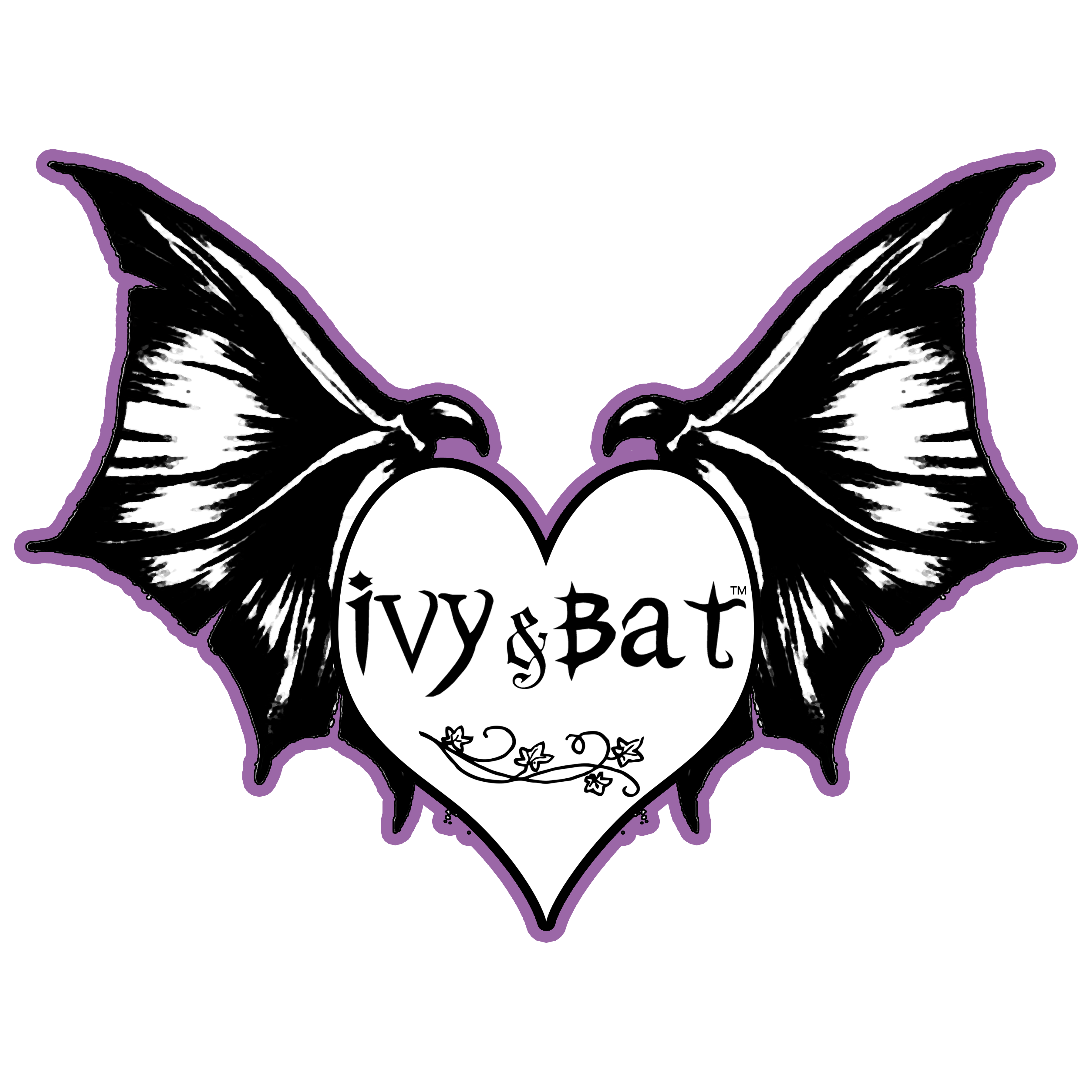 NEW2018 black and white Ivy and Bat logo trimmed