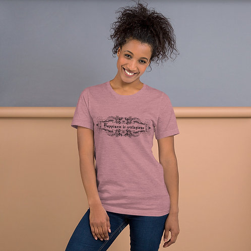 Happiness Is Contagious Classic Short-Sleeve Unisex T-Shirt