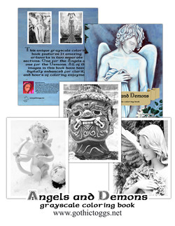Angels And Demons Coloring Book By Tabz Jones