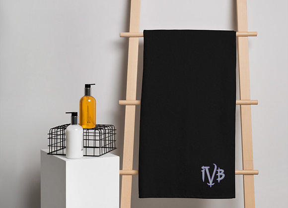 Ivy and Bat Signature Logo Turkish cotton towel