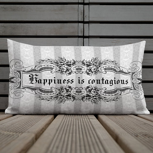 Happiness Is Contagious Goth Premium Pillow