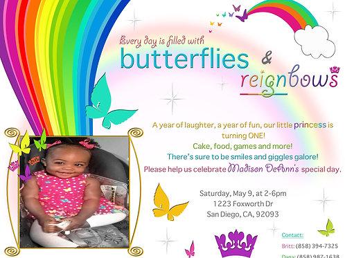 Reignbow Theme Invitation
