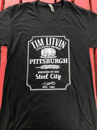 """""""Brewed in Steel City"""" V-Neck"""