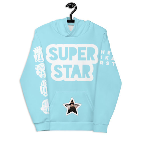 Light Blue Quad Superstar Pan African Unisex Hoodie