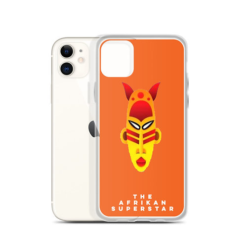 Designer Orange Mask iPhone Case