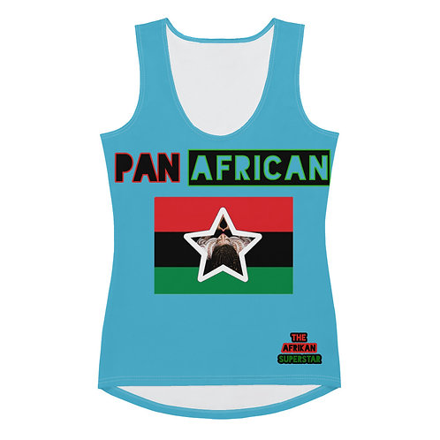 Blue Proud Pan African Sublimation Cut & Sew Tank Top