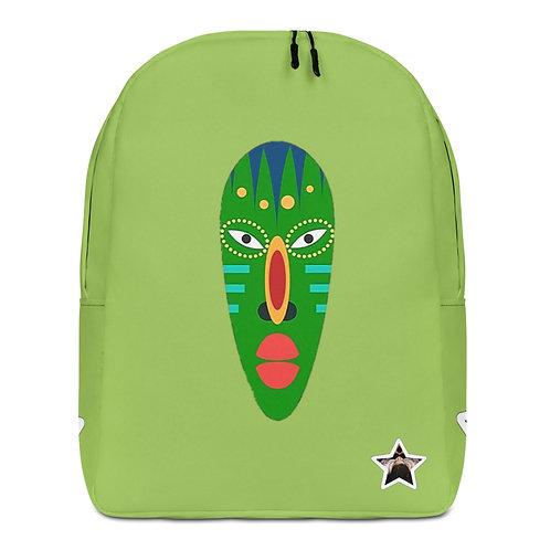 Green Jade Mask Minimalist Backpack