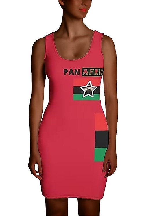 Red Proud Pan African Sublimation Cut & Sew Dress