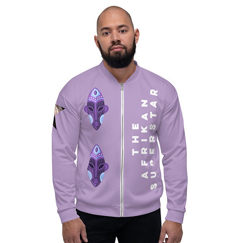 Lavendar Orchid Mask Unisex Bomber Jacket
