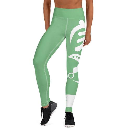 Afrikansuperstar X Ghana Green Adinkra Yoga Leggings