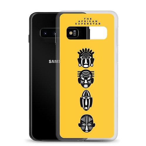 Designer Yellow Quad Mask Samsung Case