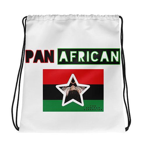 White Proud Pan African Drawstring bag