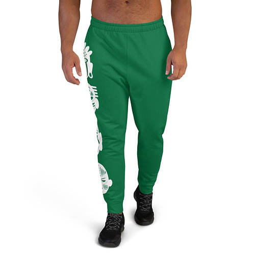 Green Quad Mask Men's Joggers