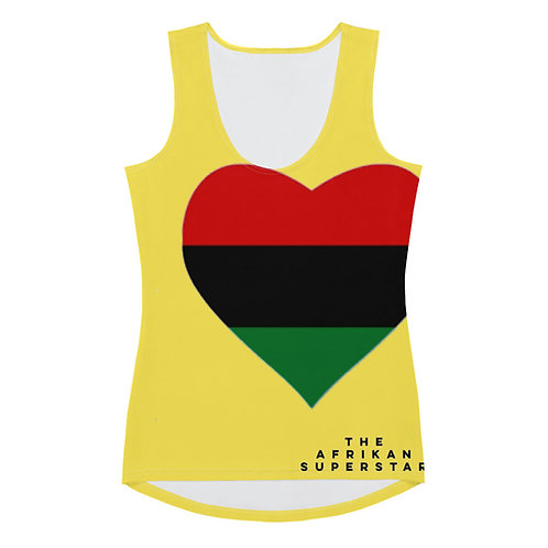 Yellow Pan African Love Sublimation Cut & Sew Tank Top