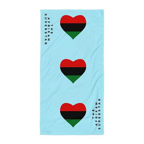 Blue Pan African Love Towel