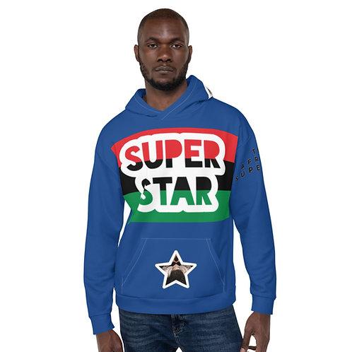 Blue Superstar Pan African Unisex Hoodie