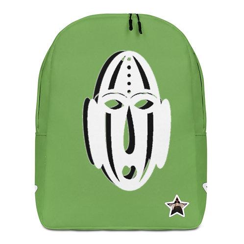 Green Ivory Mask Minimalist Backpack