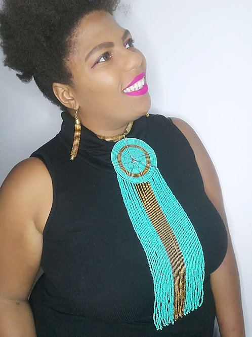 """Best of Kenya"" Cascading Statement Necklace & Earring Set"