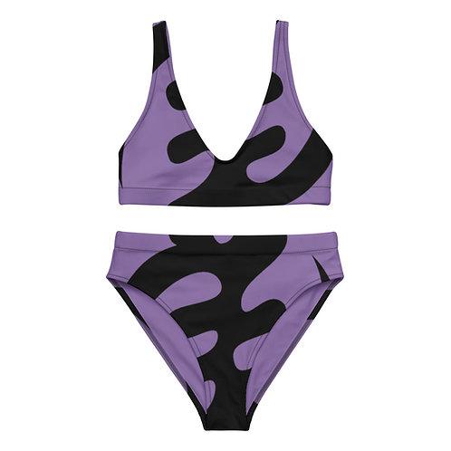 Purple Gye Nyame Recycled high-waisted bikini