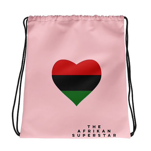 Pink Pan African Love Drawstring bag