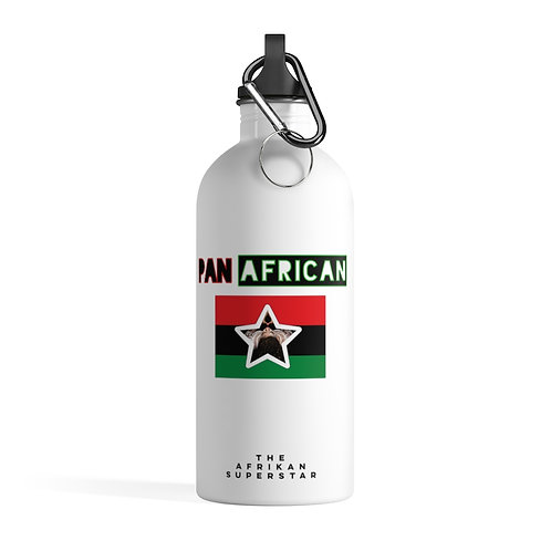 White Proud Pan African Stainless Steel Water Bottle