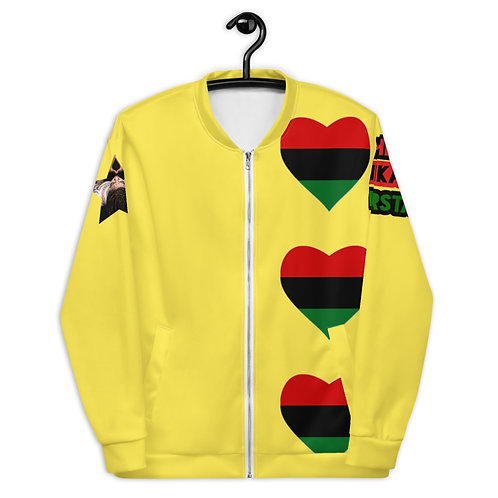Yellow Pan African Love Unisex Bomber Jacket
