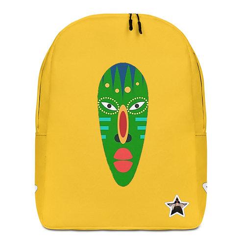 Yellow Jade Mask Minimalist Backpack