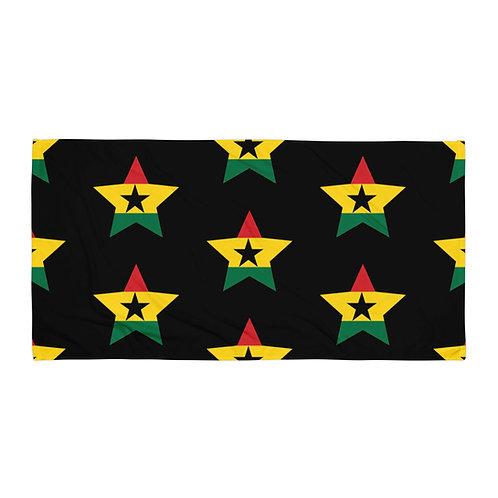 Black Ghana All Star Towel