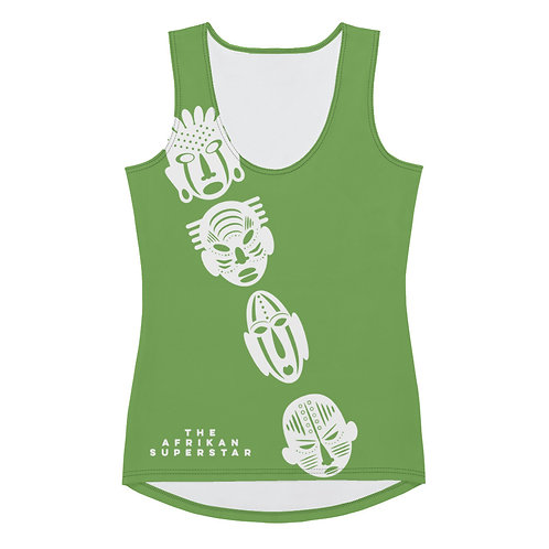 Green Ivory Cross Mask Sublimation Cut & Sew Tank Top