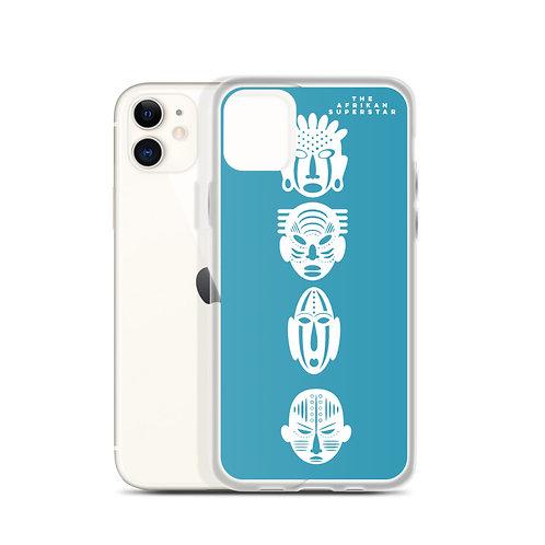 Designer Blue Quad Mask iPhone Case