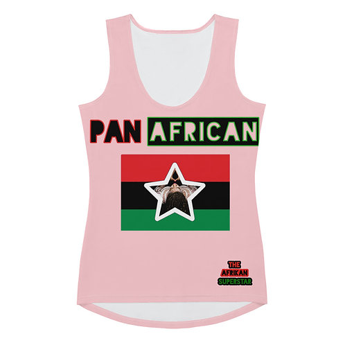 Pink Proud Pan African Sublimation Cut & Sew Tank Top